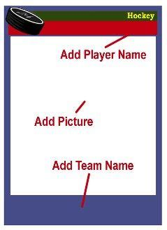Topps Basketball Card Template Photoshop by Hockey Card Template Directions Customize Blank Card