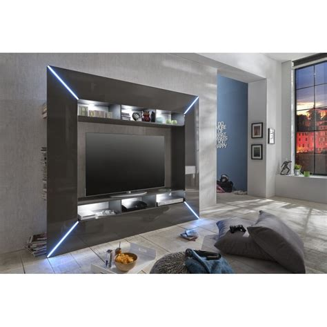 scooter modern tv wall set with led lights wall units