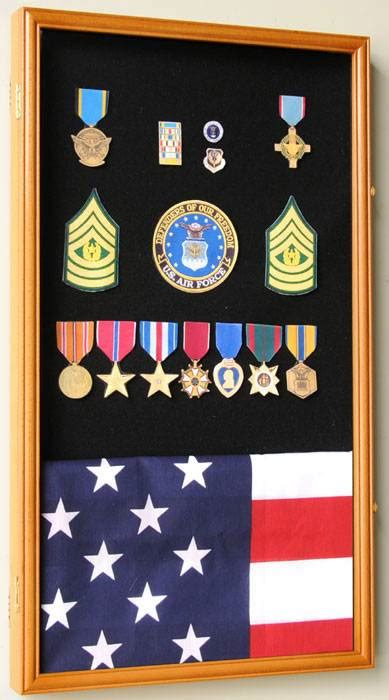 display case medals pins  patches large military