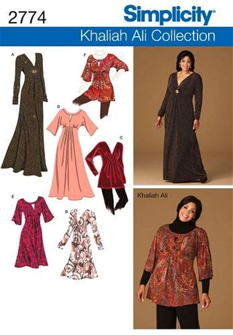 khaliah ali collection simplicity sewing pattern womens
