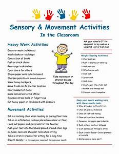 Sensory strategies & heavy work suggestions for the ...