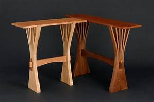 Abanico Hall Table Custom Hardwood Console Table - Seth