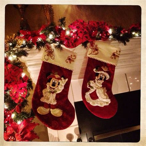 victorian disney mickey minnie christmas stockings love