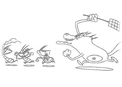 oggy   cockroaches coloring pages    print