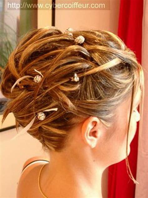 chignon pour mariage cheveux mi