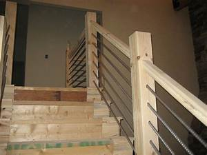 Hometalk Building a Home Cable-Rail Staircase