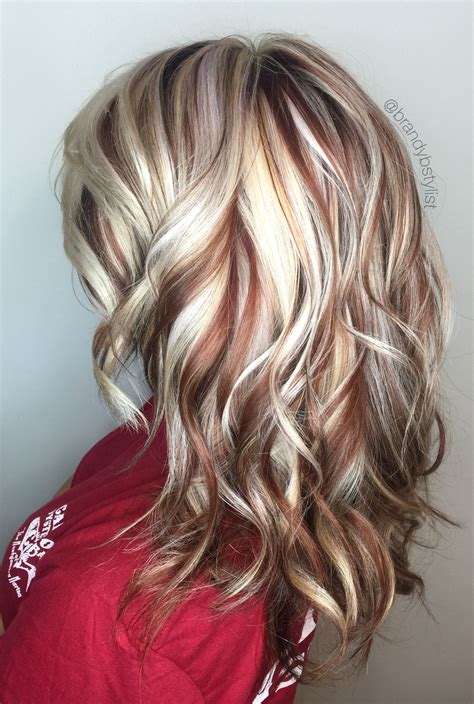 Blonde And Red Highlights Highlights Lowlights Copper