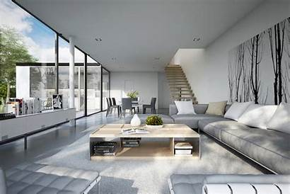 Living Modern Rooms Clean Cool Lines Architecture