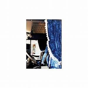Rideaux Velours Bleu : rideaux lateraux velours bleu avec ponpons ~ Teatrodelosmanantiales.com Idées de Décoration