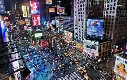 Square Times York Advertising Wallpapers Usa Traffic