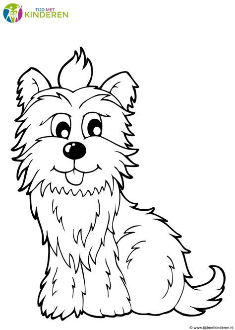 Kleurplaten Puppies by Kleurplaten Hond En Puppy
