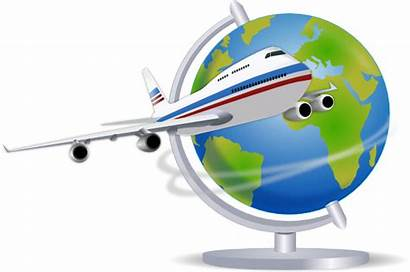 Airplane Traveling Globe Clip Clker Clipart