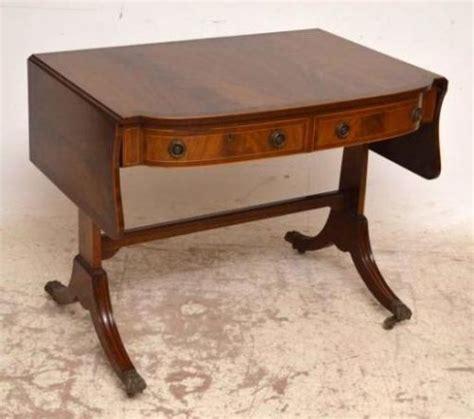 mahogany sofa table antique antique regency style inlaid mahogany sofa table 235718
