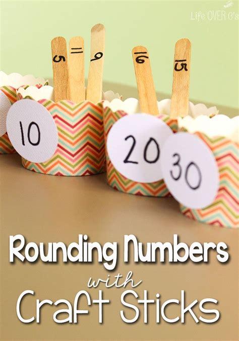 rounding numbers   nearest ten  craft sticks