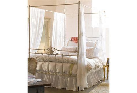 letto a baldacchino in ferro battuto da letto in stile shabby chic lusso dal sapore