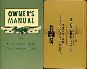 1948 Chevrolet Car Owners Manual With Envelope 48 Chevy