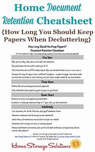 How long should you keep papers home document retention for Documents i should keep