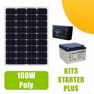 Panneau Solaire 100w : kit panneau solaire 100w poly 12v av r gulateur 10a et ~ Nature-et-papiers.com Idées de Décoration