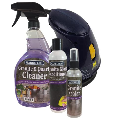 granite care countertop clean seal and care kit by marblelife