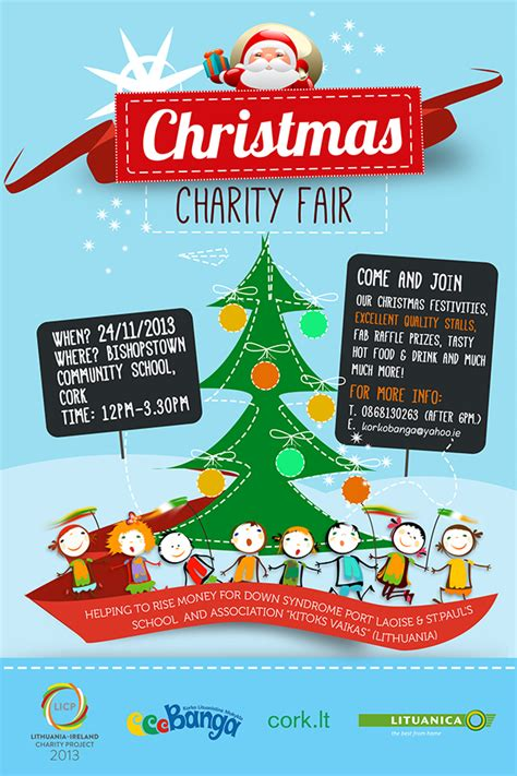 christmas charity template poster christmas charity poster festival collections