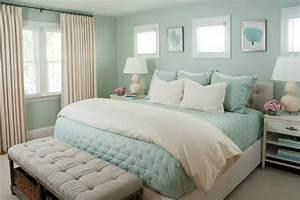 Seafoam, Green, Bedroom, Features, Lovely, Coastal, Design