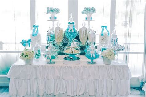 tiffany buffet table ls aqua and white lolly buffet winter pinterest lolly