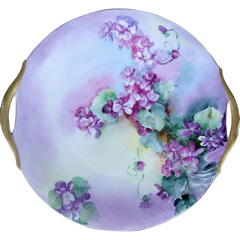 hand painted l shades stunning bavaria 1900 39 s hand painted shades of quot purple