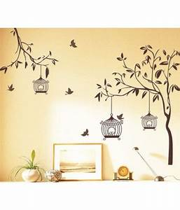 StickersKart Wall Stickers Wall Decals Brown Tree with