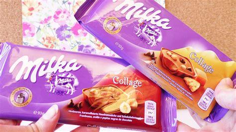 "NEUE Milka Schokolade ""Collage"" Himbeer & Karamell Eva"
