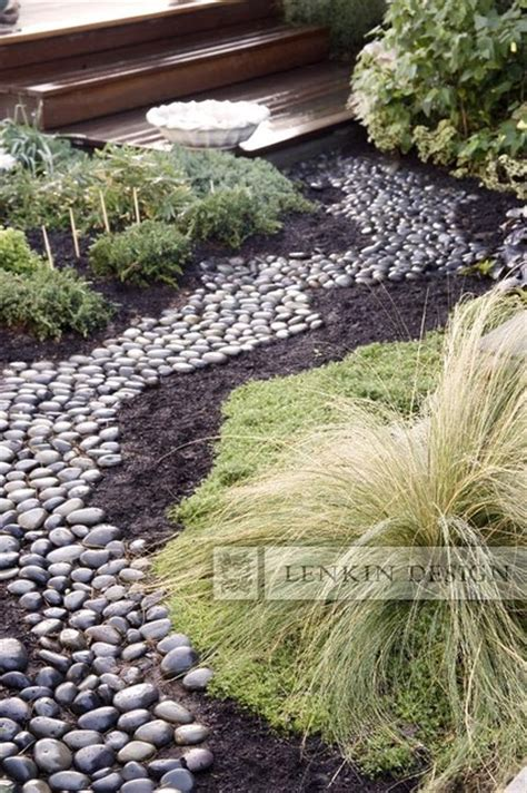 river rock garden ideas home and garden design