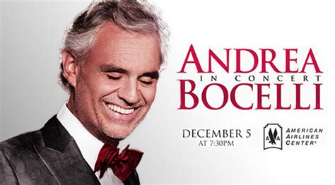 andrea bocelli american airlines center wednesday december