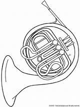 Coloring Instruments Horn Musical French Pages Tuba Instrument Kleurplaten Music Printable Fun Colouring Muziekinstrumenten Zo Kleurplaat Bugel Orchestra Van Sheets sketch template