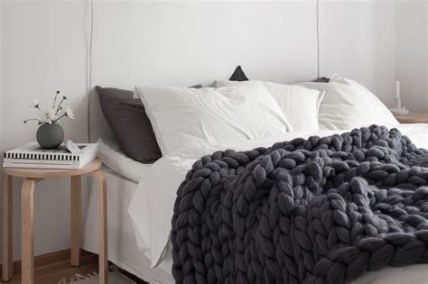 canape en osier couverture grosse maille chunky blanket mes