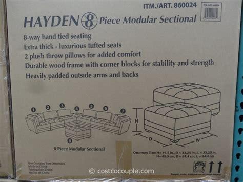 marks  cohen hayden  piece modular fabric sectional