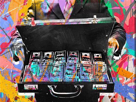 unframedbriefcase moneyalec monopoly oil painting