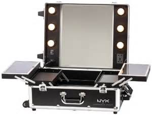 nyx makeup artist with lights large black silver 1 ounce luggage bags cases