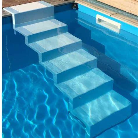 pool treppe nachrüsten polyester pooltreppe elegance zum nachr 252 sten pools und schwimmbecken