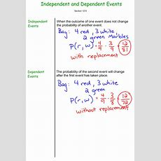 Independent And Dependent Events  7th Grade Prealgebra  Mr Burnett