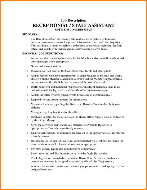 front desk officer duties and responsibilities clinic front desk job best home design 2018
