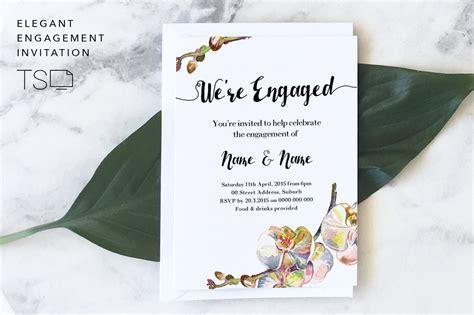 Elegant Engagement Invitation ~ Invitation Templates