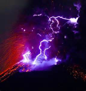 Thunderstorms and Lightning Volcano