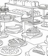 Coloring Bakery Adult Cake Colouring Desert Bread Pages Cooking Korean Books Sheets Drawing Stress Printable Mandala Flowers Sold Etsy sketch template