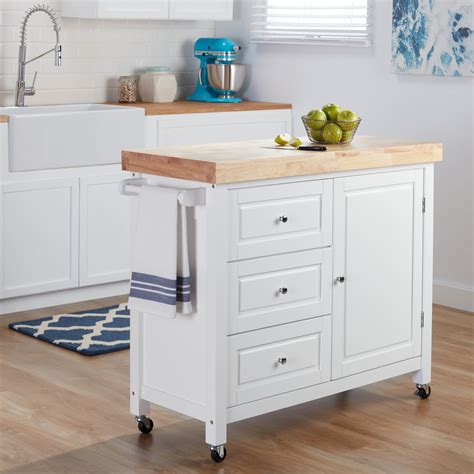 overstock kitchen island cart shop rubberwood kitchen island cart free 3909