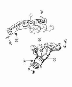 2016 Dodge Challenger Manifold  Exhaust  Left Side