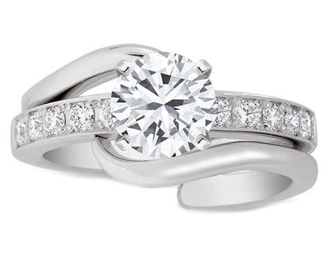 interlocking engagement rings from mdc diamonds nyc