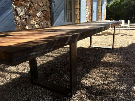 Live Edge Garden Table, Made From Large Slab 4000x~1000mm