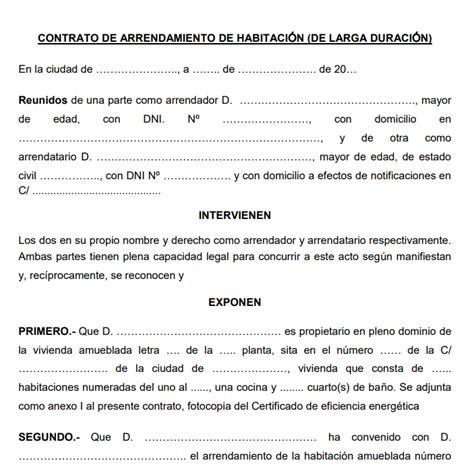 contrato de arrendamiento simple contrato de arrendamiento estado de mexico contrato de
