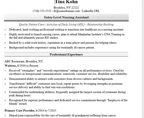 How To Write A Nursing Resume by Nursing Assistant Resume Exles 25 Nursing