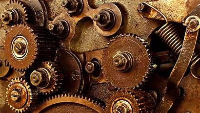 Mechanical Machine Background Steampunk Gear Engineering Mechanism
