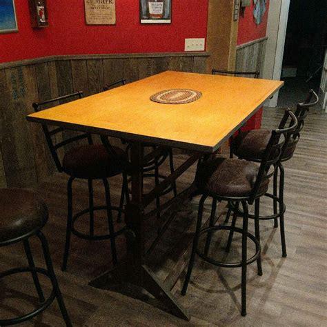 pin  paul hines  basement ideas bar table decor